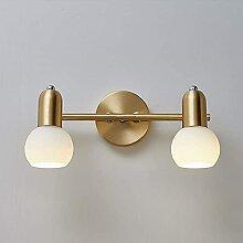 Lampe de salle de bain à LED en laiton, applique