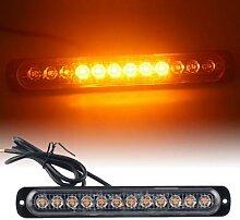 Lampe de signalisation 12LED ambre lumière