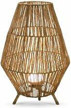 Lampe de sol extérieur sisine en fibres naturelles