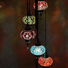 Lampe de sol traditionnelle multicolore marocaine