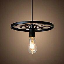 Lampe de suspension Design Roue Luminaire