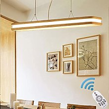 Lampe de suspension en bois moderne LED de table