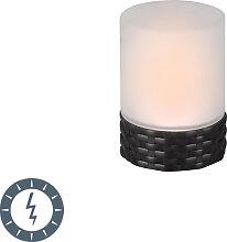 Lampe de table à effet de flamme avec LED solaire