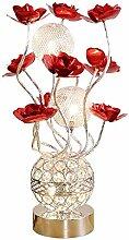 Lampe de Table à Fleur LED Cristal Lampe de