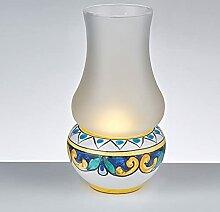 Lampe de table à huile avec base en céramique