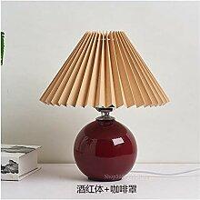 Lampe de table à la chambre Table en céramique