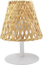 Lampe de table abat jour bambou bambou naturel