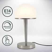 Lampe de table abat-jour verre graduable par