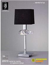 Lampe de Table Akira 1 Ampoule E14, chrome poli