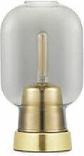 Lampe de table Amp / Verre & laiton - Normann
