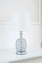 Lampe de table Arielle argent avec cristaux