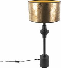 Lampe de table Art Deco avec abat-jour bronze 35