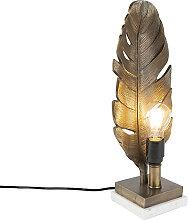 Lampe de table Art Déco bronze avec base en