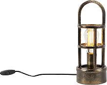 Lampe de table Art Déco en bronze 35 cm - Kevie