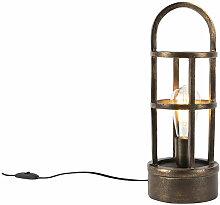 Lampe de table Art Déco en bronze 41 cm - Kevie