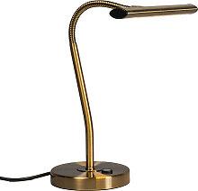 Lampe de table Art Déco en bronze avec LED -