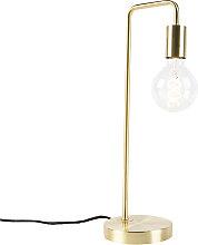 Lampe de table Art Déco en laiton - Facil