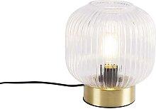 Lampe de table Art Déco en laiton - Karel