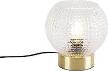 Lampe de table Art Déco en laiton - Sphère