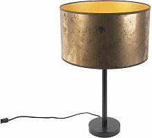 Lampe de table Art Déco noir avec abat-jour