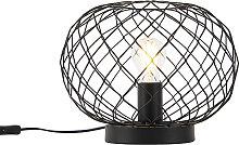 Lampe de table Art Déco noir - Helian