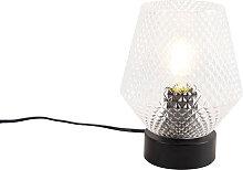 Lampe de table Art Déco noire - Karce