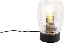 Lampe de table Art Déco noire - Michi