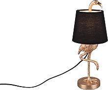 Lampe de table Art Déco or et noir - Koen