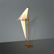 Lampe de table Art Déco Papier Oiseau Chambre à