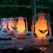 Lampe de table blanche effet flamme 22 cm - Storm