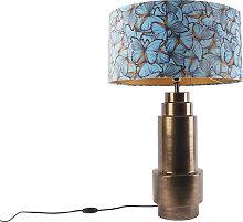 Lampe de table bronze avec abat-jour papillon