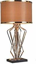 Lampe de Table Brown moderne Abat double couche