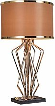 Lampe de Table Brown moderne Abat double couche