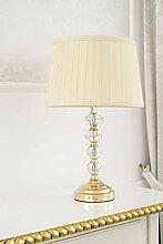 Lampe de table Clarissa cristal abat-jour doré