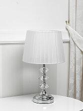 Lampe de table Clarissa cristal moderne abat-jour