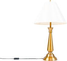 Lampe de table classique bronze avec abat-jour