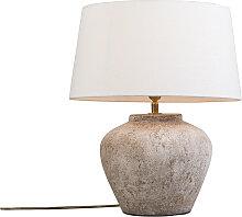 Lampe de table classique marron avec abat-jour