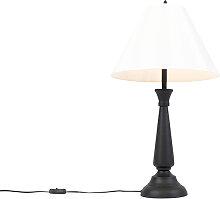 Lampe de table classique noire avec abat-jour