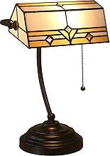 Lampe De Table Créative Banquière Tiffany Lampe