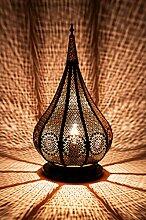 Lampe de table de chevet marocaine Kais Noir 38cm