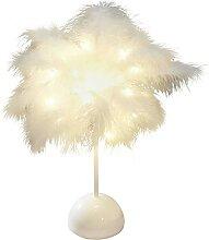 Lampe de table décorative à piles en forme de