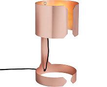 Lampe de table design cuivre mat - Valse