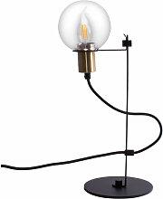 Lampe de table design en verre boule boule hauteur