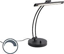 Lampe de table design noire avec LED avec