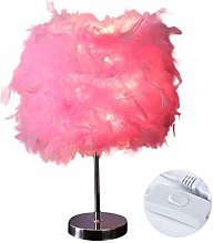 Lampe de table E27 Table de chevet Lampe LED plume