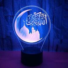 Lampe de Table en 3d, musulmane, design créatif,