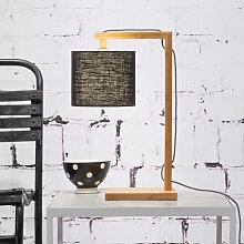 Lampe de table en bambou et lin écologique