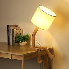 Lampe de Table en bois en forme de Robot E14,