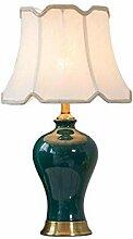 Lampe De Table En Céramique E27 De Tissu De