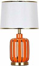 Lampe De Table En Céramique Orange Hôtel